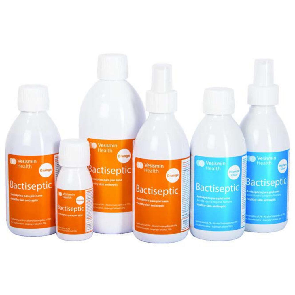 Material Médico y Sanitario. Producto Antiséptico Bactiseptic Orange e Incoloro