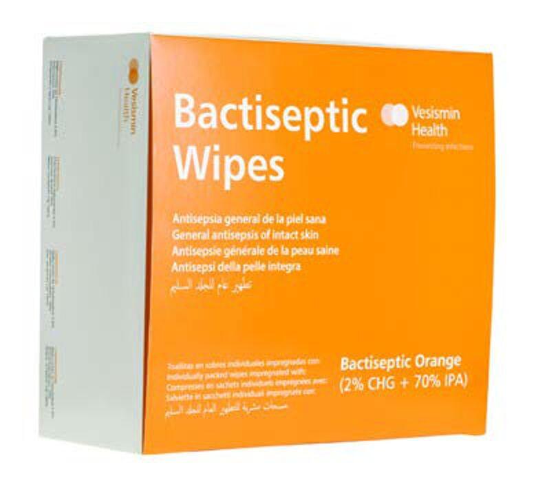 Material Médico y Sanitario. Producto Antiséptico Bactiseptic Wipes