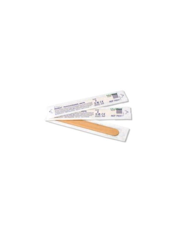 Depresor estéril de madera Caja 100 uds