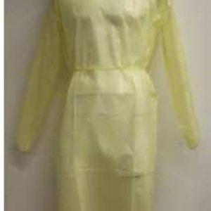 Bata de protección impermeable amarilla