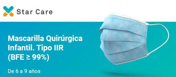 Mascarilla Quirúrgica Infantil Tipo IIR Star Care
